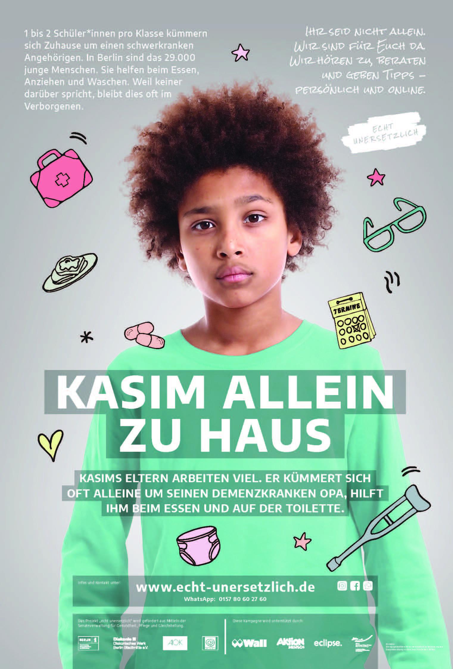 Poster Kasim allein zu Haus